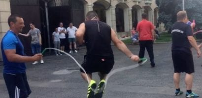 Jump Rope Workshop for Firefighters in Hungary!