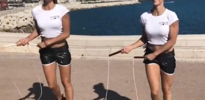 Jump Rope Sisters, Kata and Adrienn Banhegyi, visited Nice, on a day off, right after performing at the Basketball Finals, 2018, in front of the Prince of Monaco.